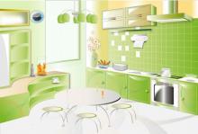 Интерьер кухни, сделанный своими руками